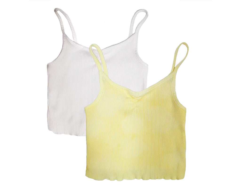 Nat Rib Cami Bundle - Yellow