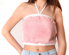 Nicole Pink French Terry Crop Top