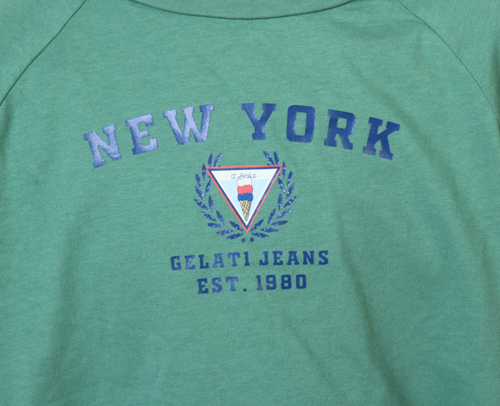 New York Raglan Tee - Bottle Green