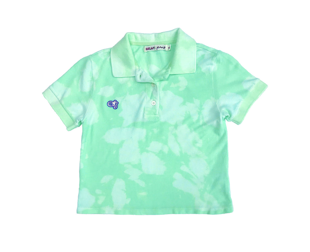 Spearmint Cloud Polo Top