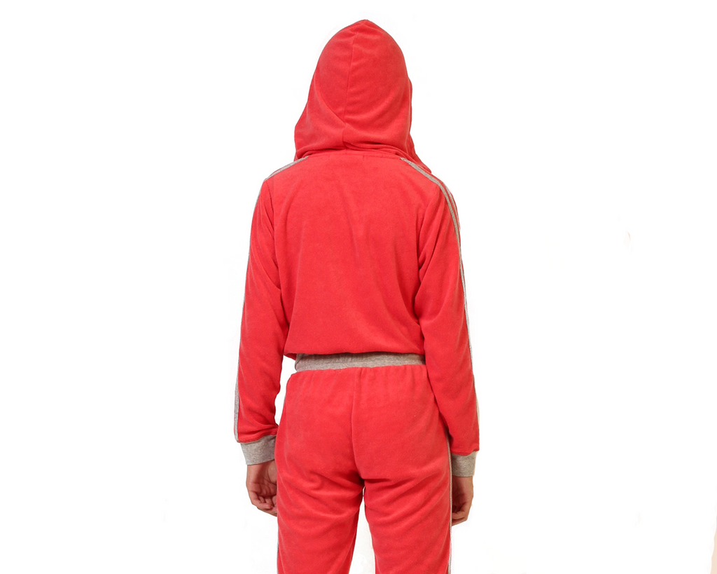 Serena Red French Terry Hoodie