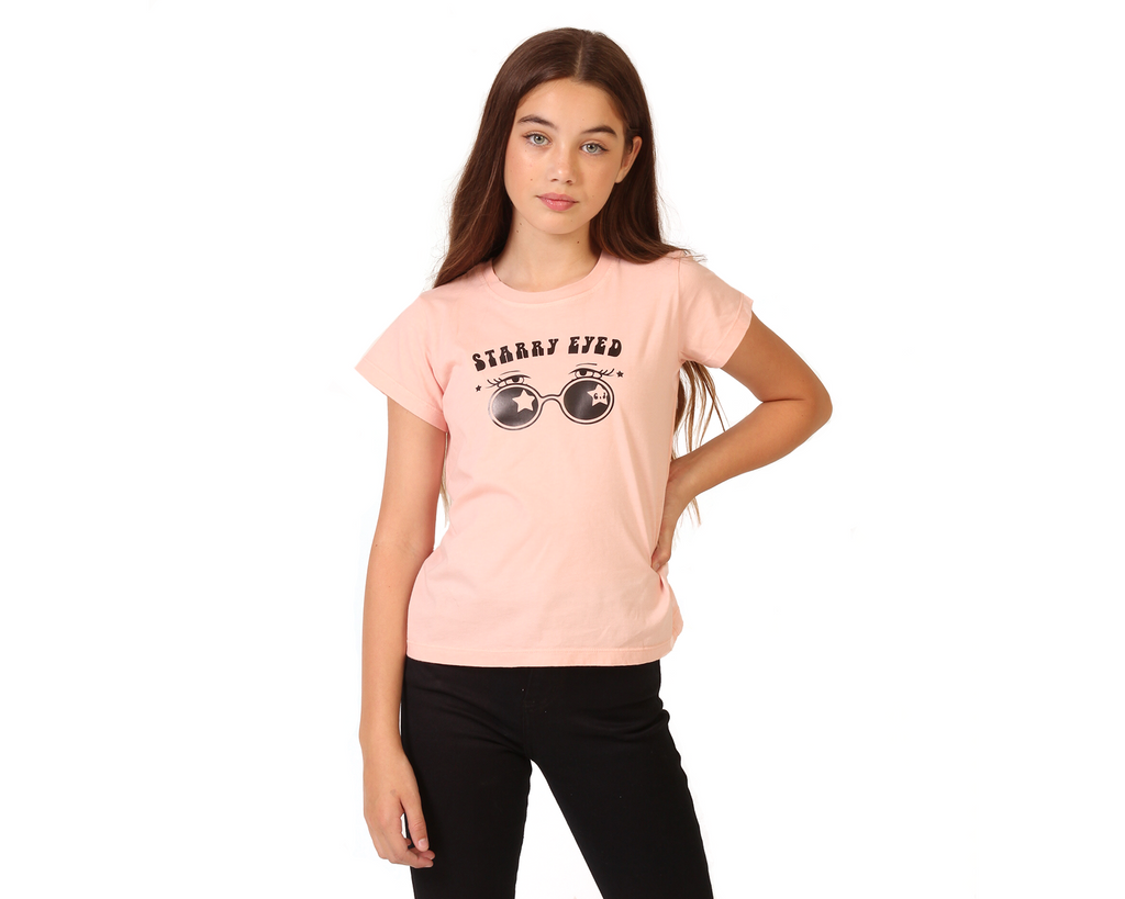 Starry Eyed Peach Tee