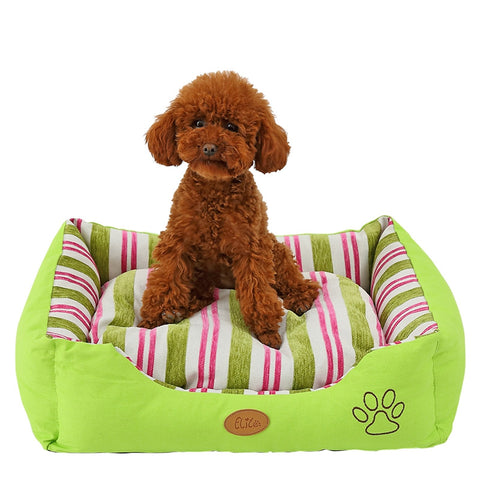 Leisure Striped Pet Soft Warm Bed