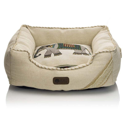 Cute linen pet bed house mat
