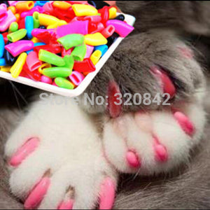 20 pcs/lot Pet Cat Nail Caps