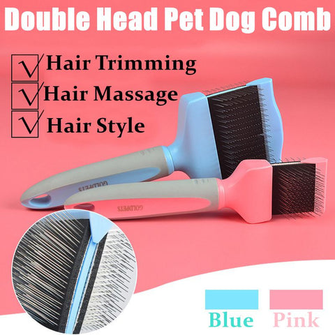 Stainless Wire Puppy Cat Hair Grooming Comb Brush