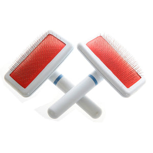 Red Puppy Cat Hair Grooming Slicker Comb Brush