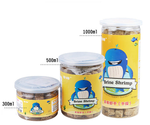 Aquarium fish food brine shrimp dry feed