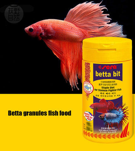 Aquarium betta fish food