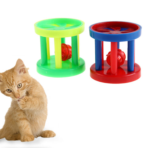 10pcs Colorful Plastic Pet Bell Ball