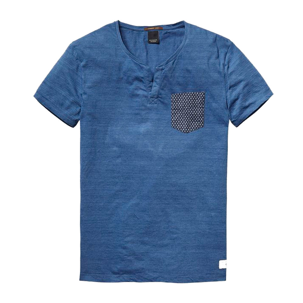 men blue t-shirt