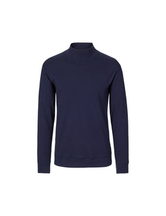 Cotton Rib Stelt Rollneck, Navy