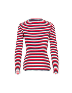 2x2 Soft Stripe Tuba, Navy/Ecru/Red