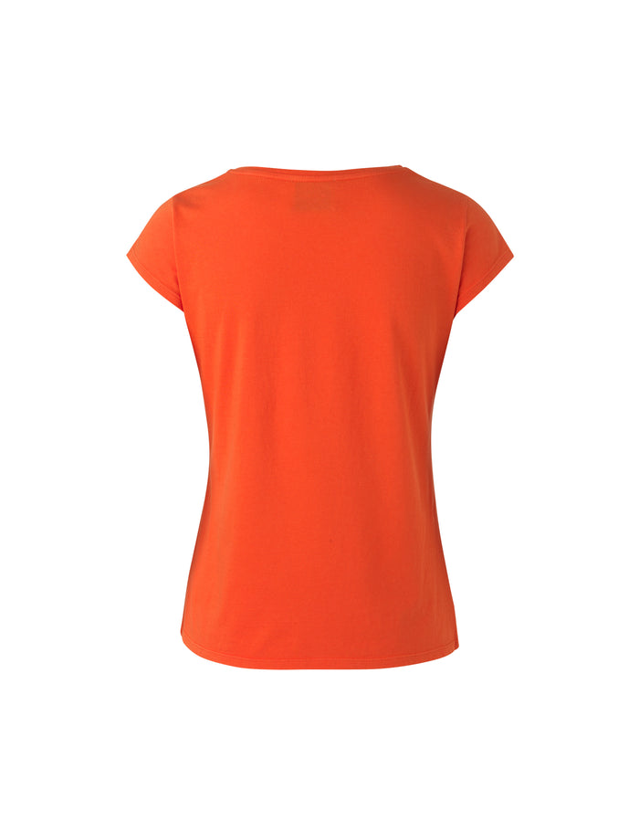 Jersey dip Teasy, Deep Orange