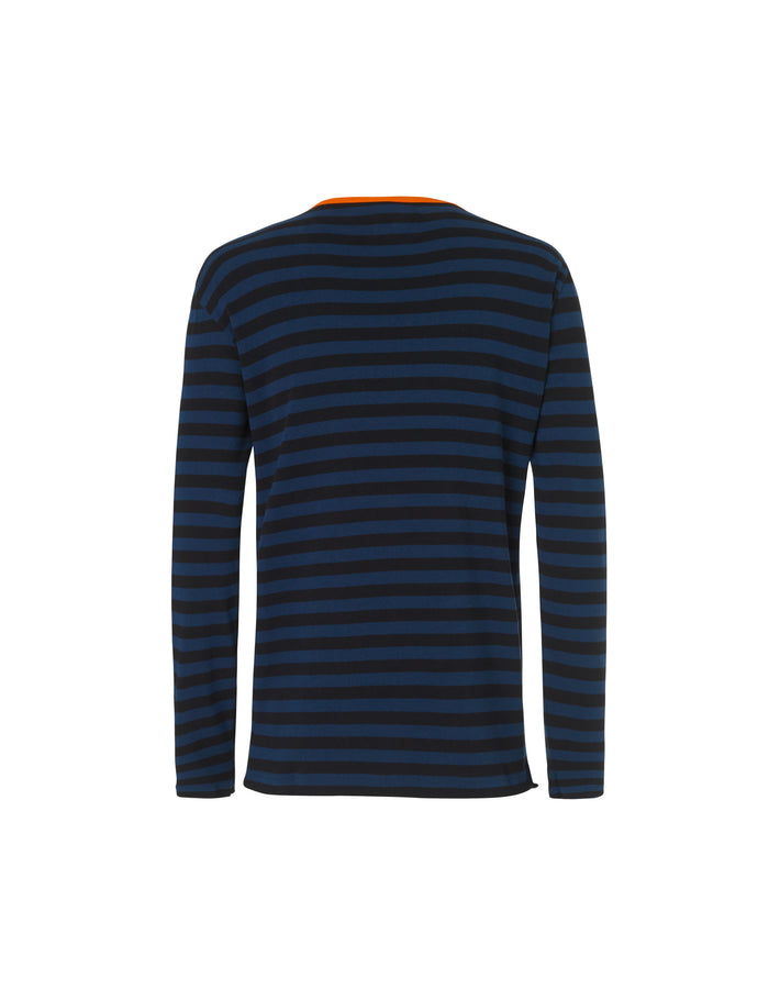 Midi Rib Tobias Long, Sky Captain/Black/Orange