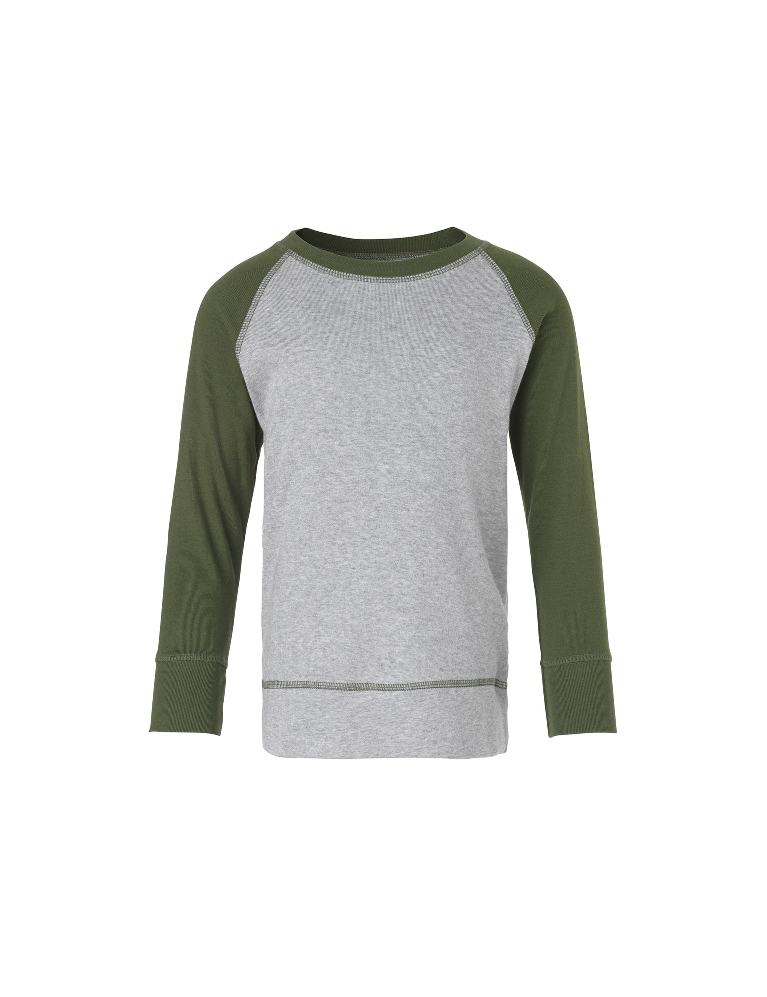 Cotton Rib Steltino Contrast, Grey Melange/Rifle Green