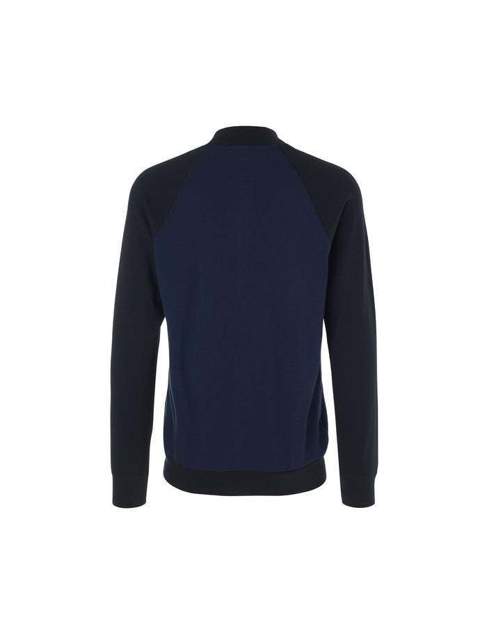 Cotton Rib Jacket Contrast, Black/Navy