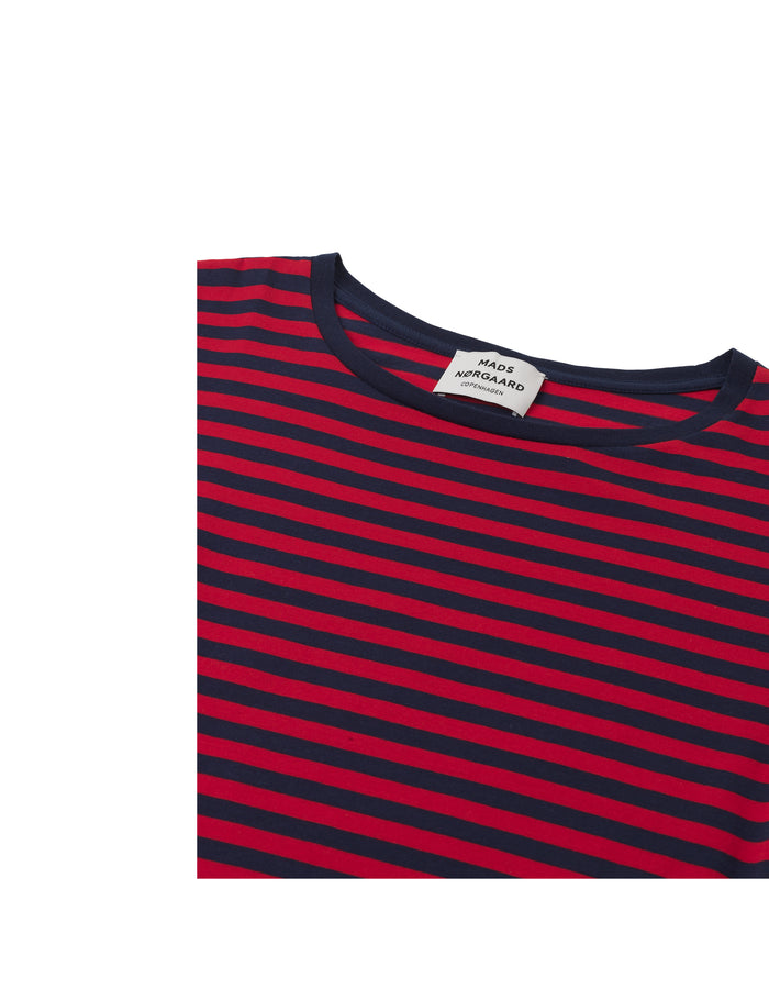 Single stripe Teasy, Navy/Red