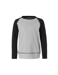 Cotton Rib Steltino Contrast, Black/Grey melange