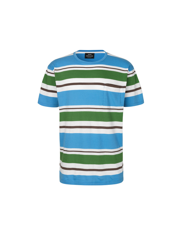 Irregular Striped Tallin Pocke, Green Stripe