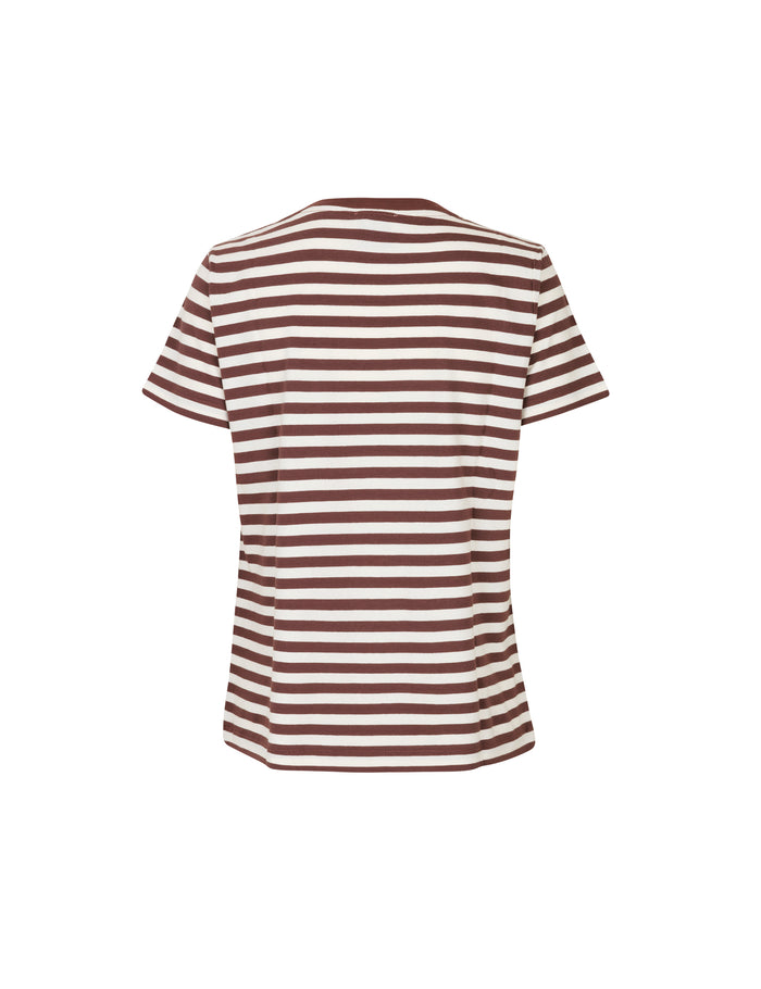 Single stripe Trenda, Brown/Ecru