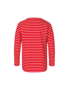 Single Stripe Tuvina Long, Red/Ecru