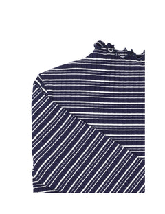 5x5 Cool Stripe Trutte s, Navy/Ecru