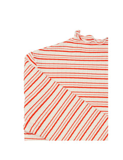 5x5 Cool Stripe Trutte s, Dark Ecru/Warm Red