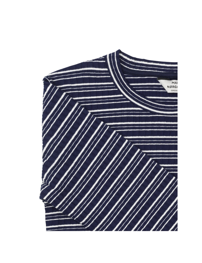 5x5 Cool Stripe Tuba s, Navy/Ecru