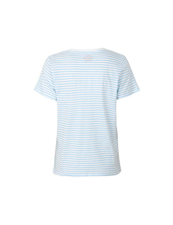 Organic Favorite Stripe Trimmy, White/Sky Blue