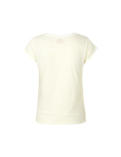 Organic Favorite Stripe Teasy, White/Soft Yellow