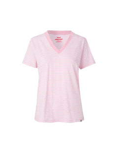 Organic Fav Stripe Trimmy V, White/Rose