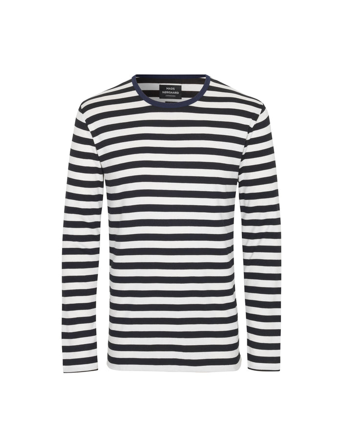 Midi Rib Tobias Long, Navy/White