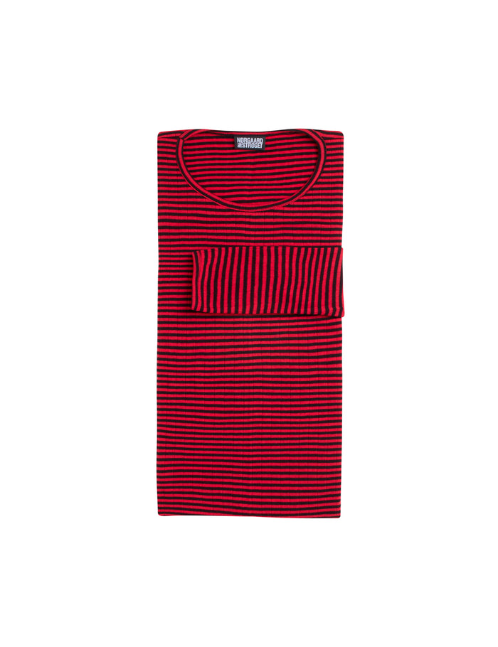 101 Fine Stripe, Black/Red