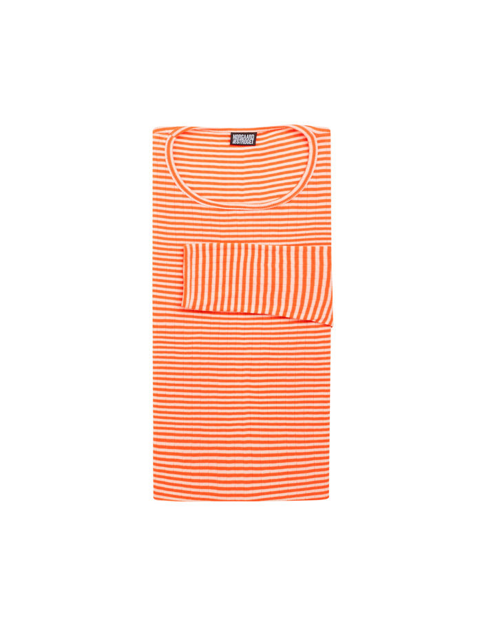 101 Fine Stripe, Orange/Ecru