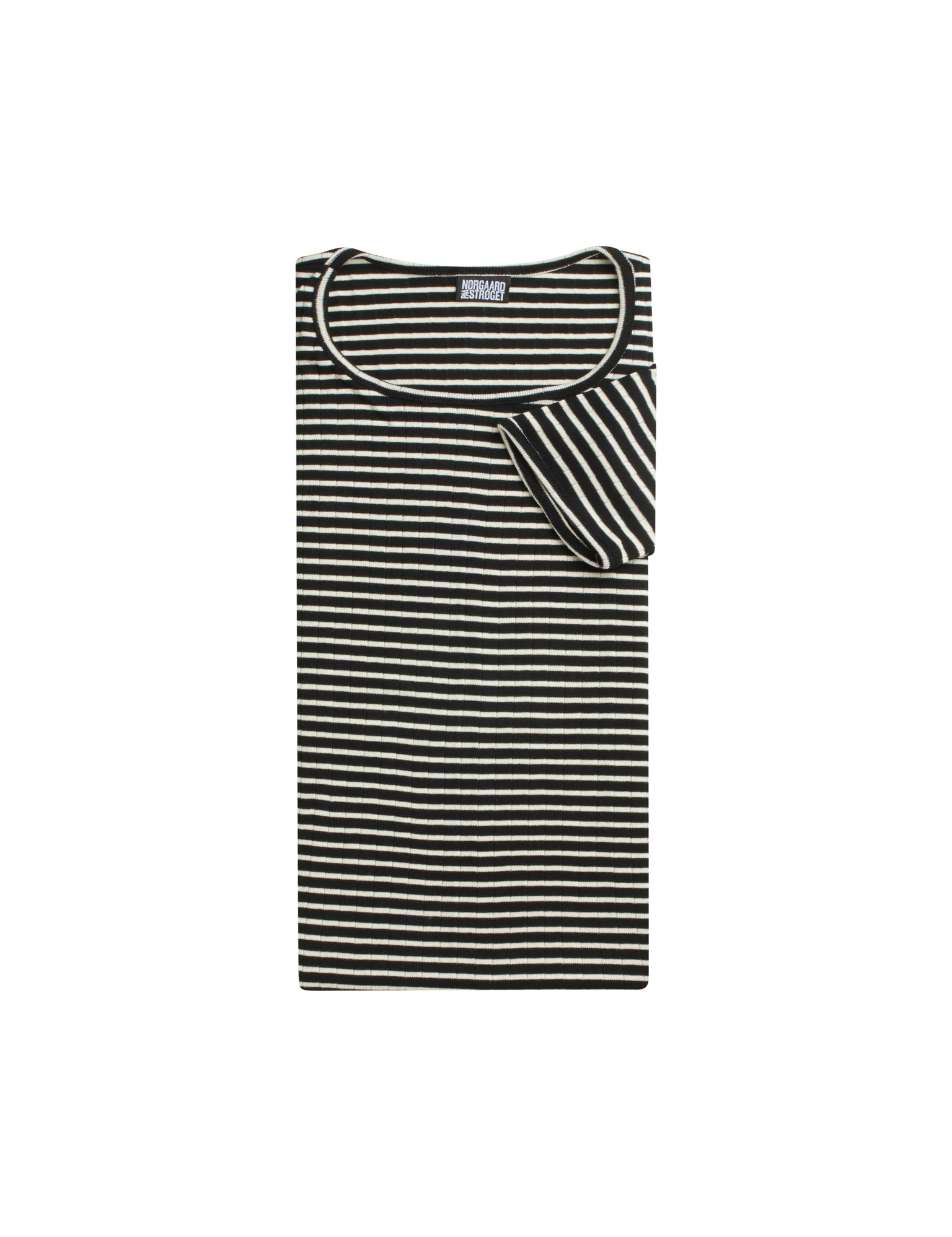 101 Short Sleeve NPS Stripes, Black/Ecru