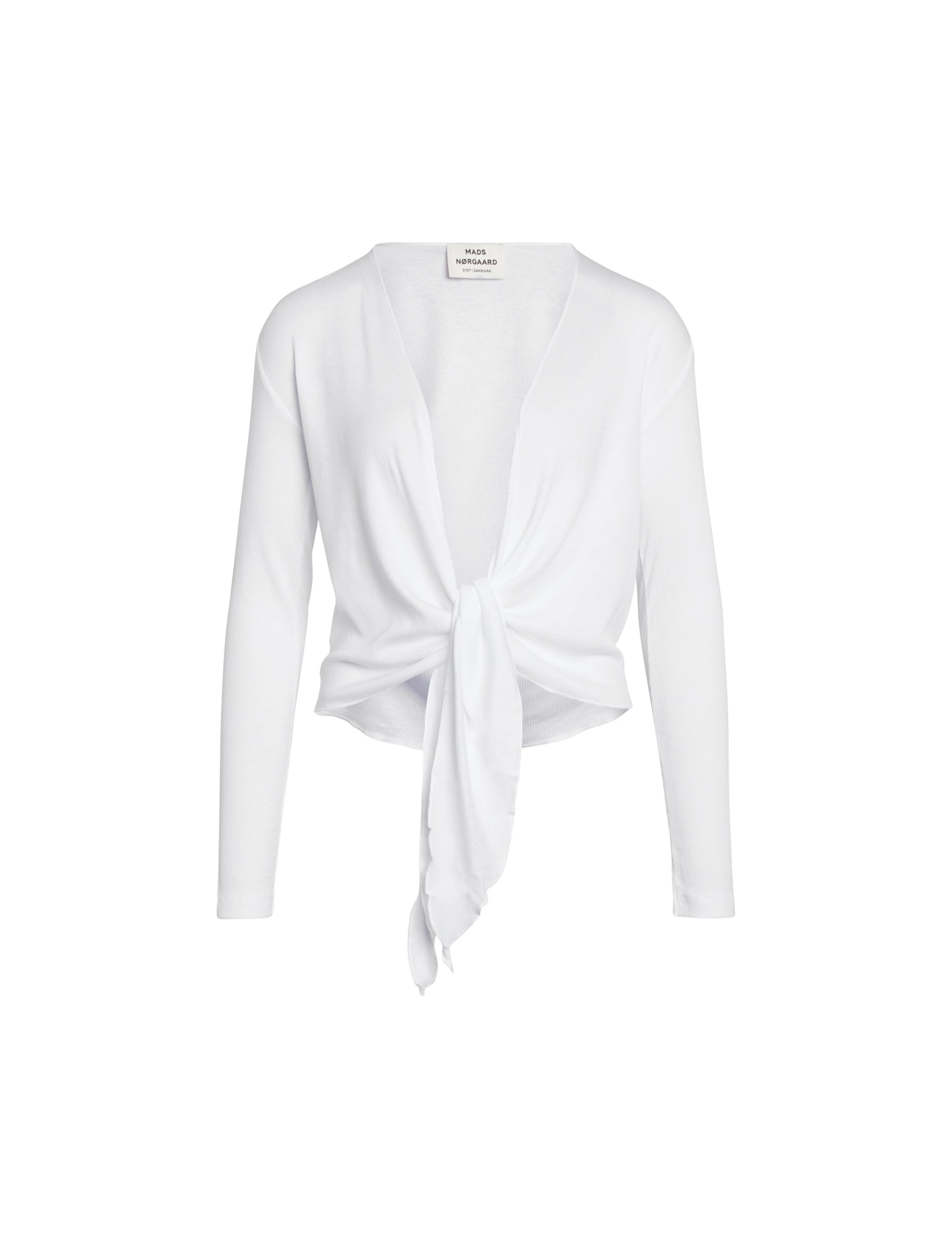 NPS Wrap Top Solid Colour, White