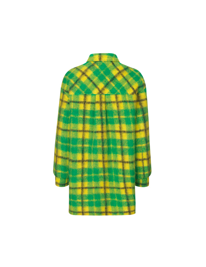 Checky Wool Cabby, Green/Yellow
