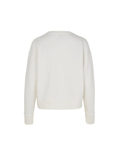 Organic sweat Tilvina P, Ecru/White