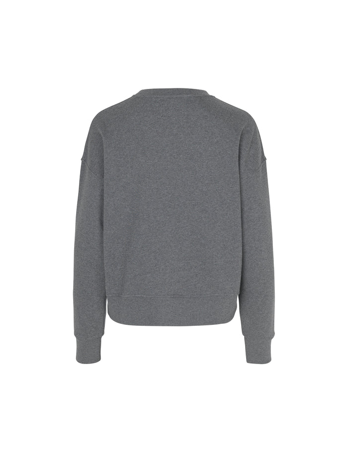 Organic sweat Tilvina P, Dark Grey Melange