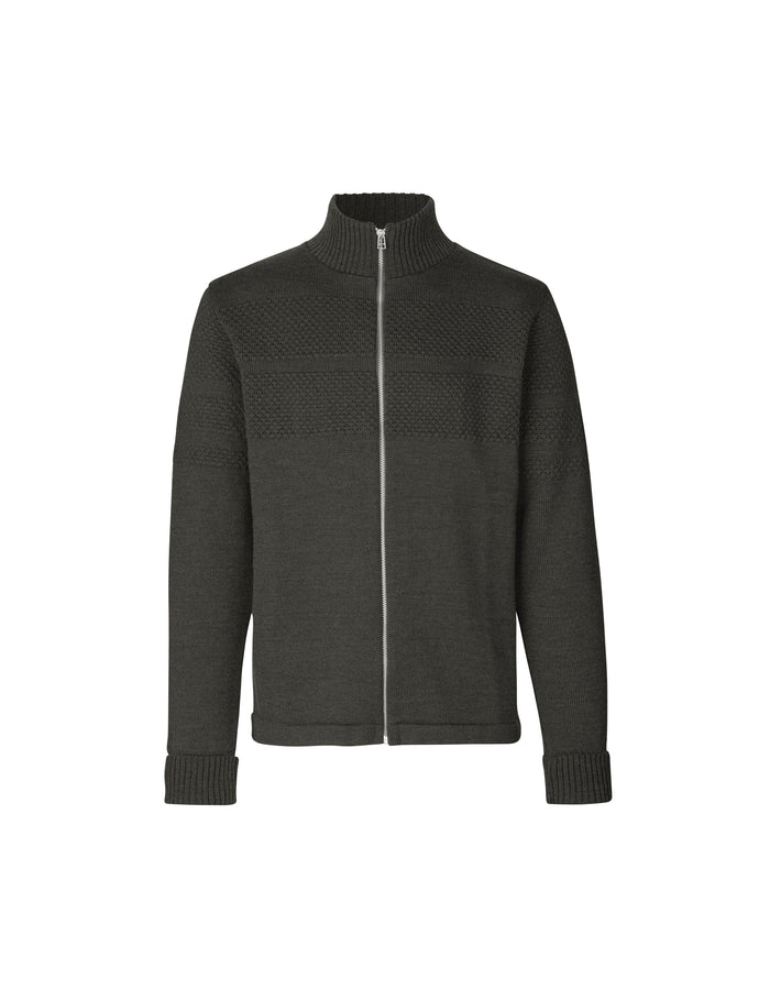 100% Wool Klemens Zip, Forest Night