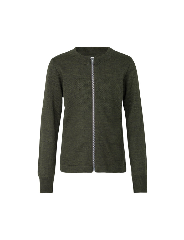 Wool Tender Klembino Zip, Army Melange