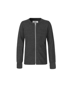 Wool Tender Klembino Zip, Dark Charcoal Melange