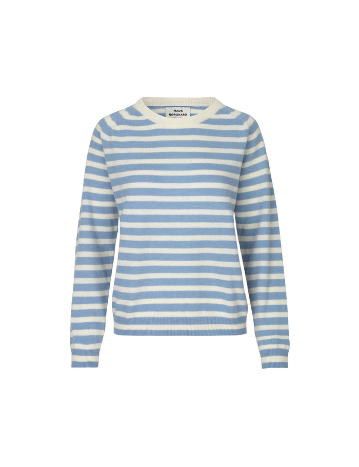 Cosy Stripe Kaxa Stripe, Light Sky/Ecru