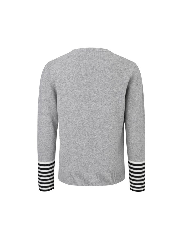Firenze Kenny Stripe, Grey Melange