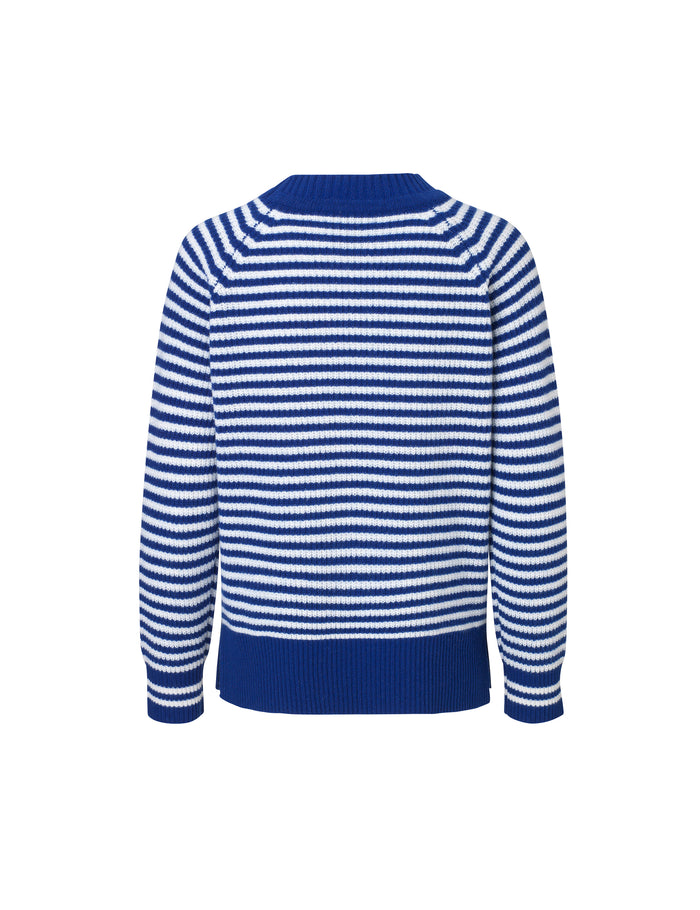 Cash Stripe Boutique Kula S1, Blue/Ecru