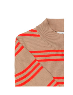 Merino Group Karinella Neon, Beige/Neon Orange
