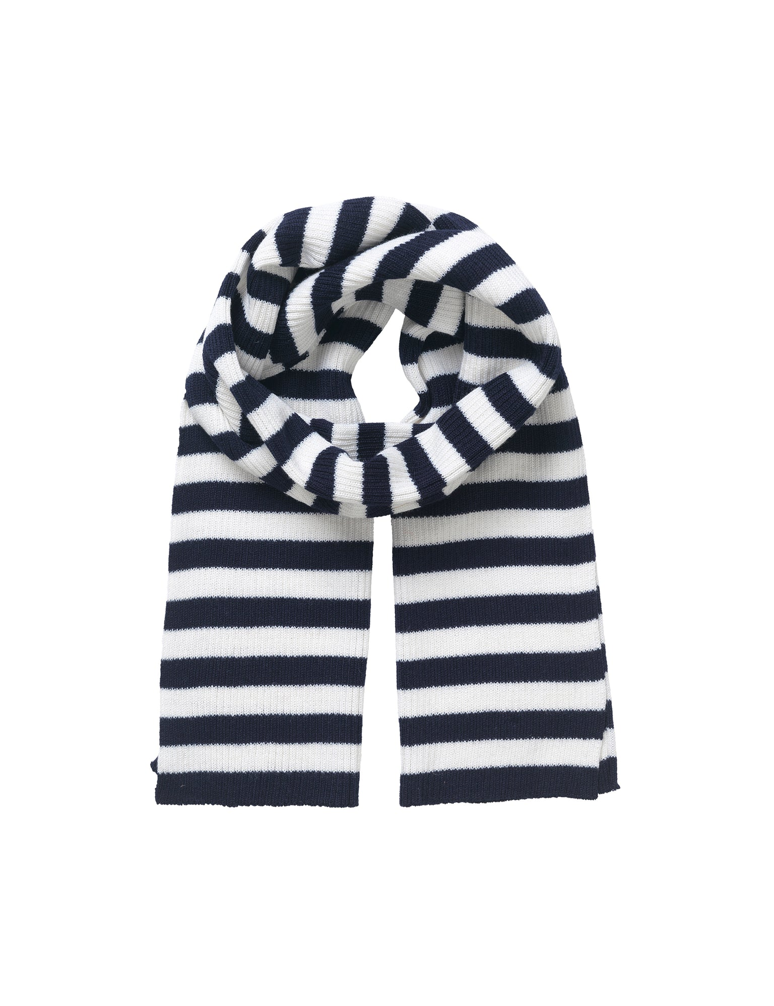 Wool Tender Stormino, Navy/Ecru