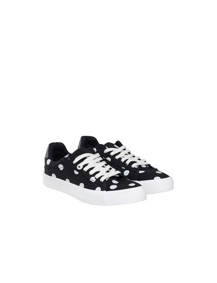 Canvas Trainers Moe, Black/White Dot