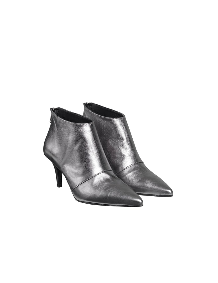 Metallic Leather Athora, Gun Metal